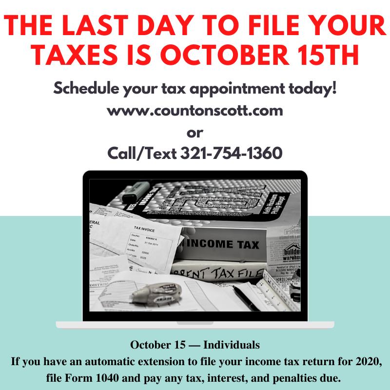 Tax Season 2020 Filing Deadlines